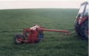 Grassland aerator made using trailed Vicon Olympus mower