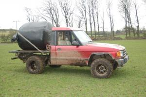 Land Rover Discovery converted for farm transport work