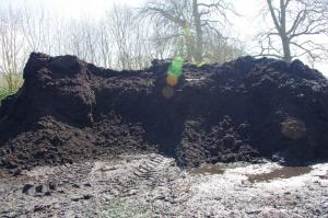 Soil rocket fuel 50:50 FYM and chicken, composted and ready to spread