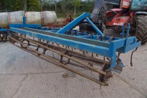 Spring tine cultivator made in farm workshop