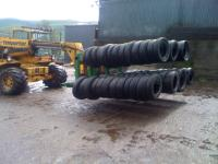 Image for Silage tyre handler and Double Ifor Williams trailer